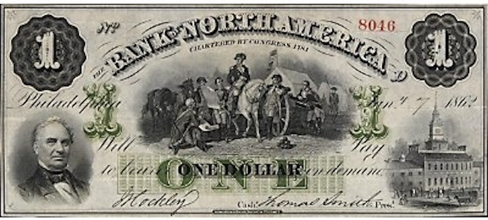 Bank of North America Currency