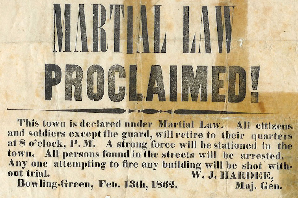 Martial Law Proclaimed