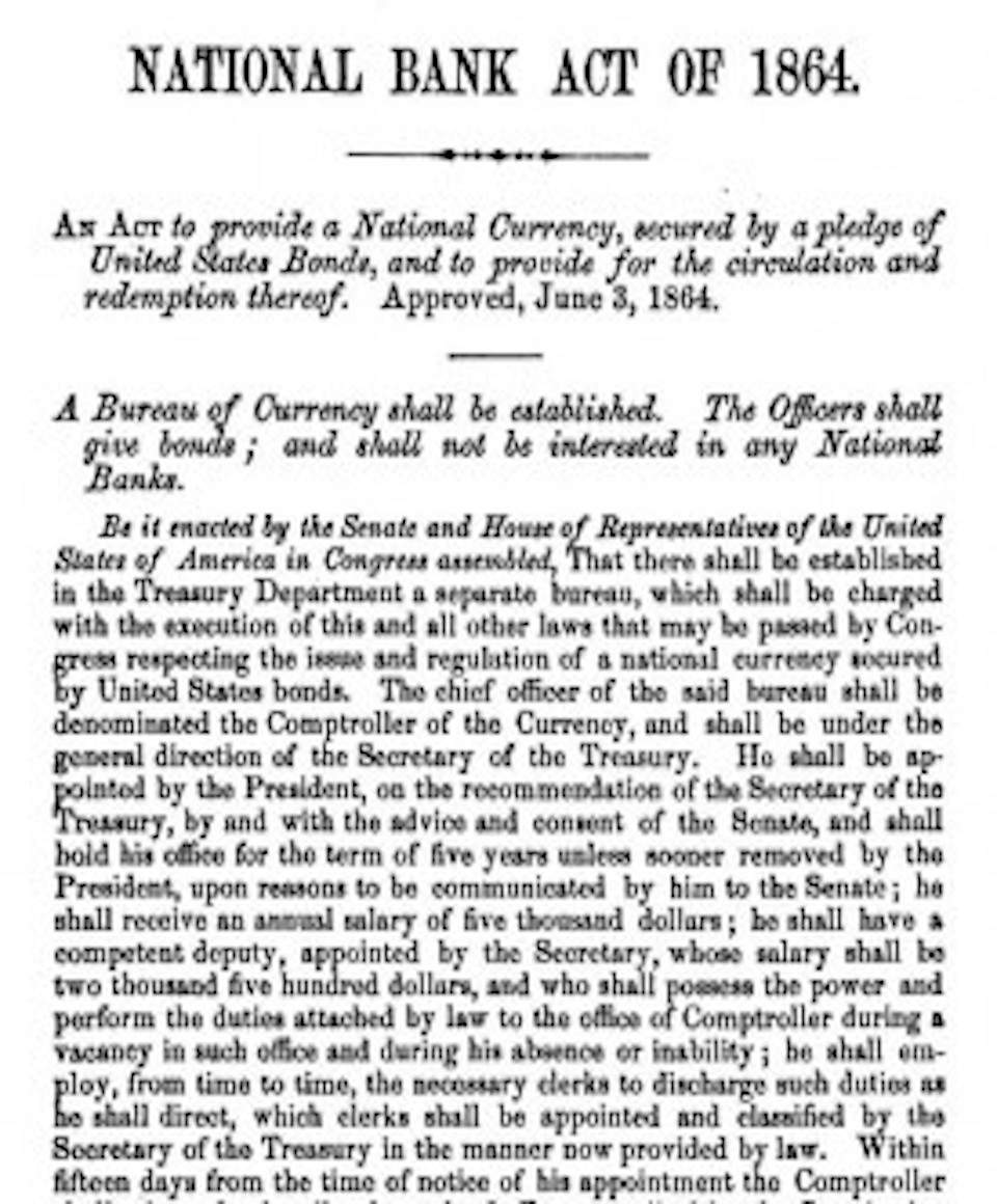 National Bank Act of 1864