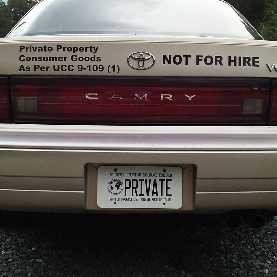 Private Property Not For Hire License Plates
